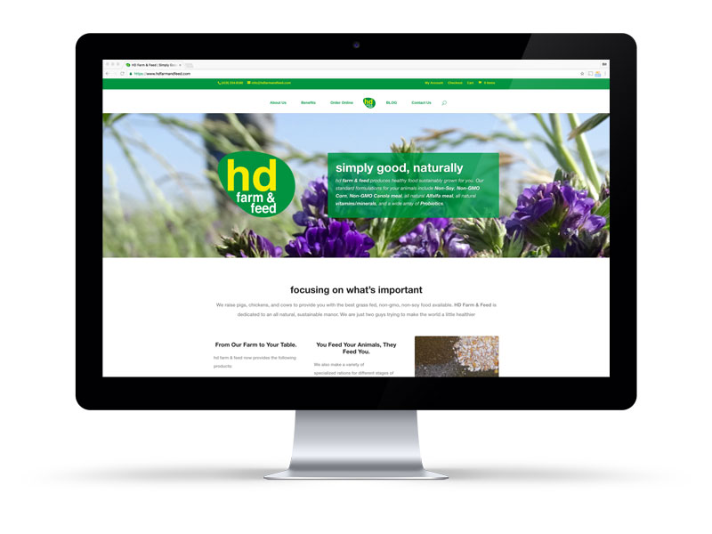 hd Farm & Feed website on a Desktop