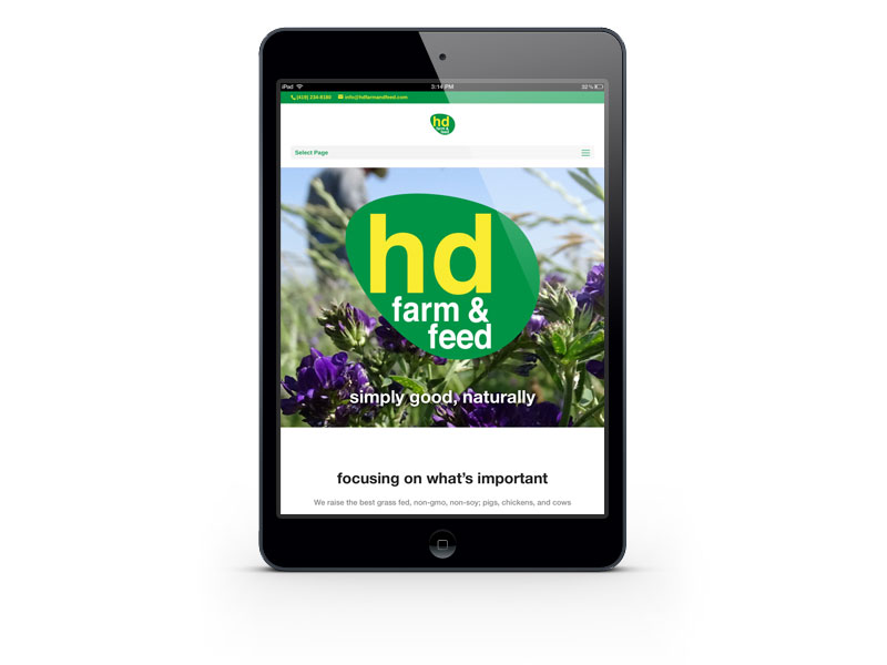 hd Farm & Feed website on the iPad