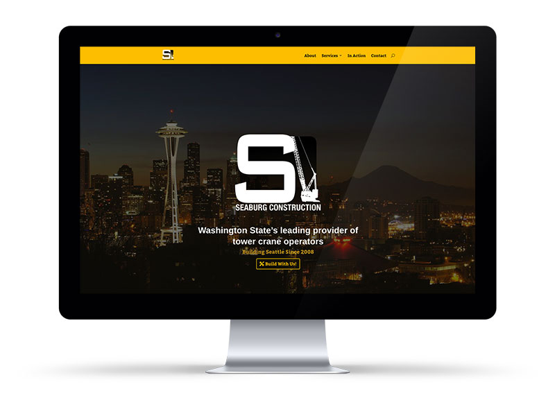 Seaburg Construction website on a Desktop by Bill Hanson Design